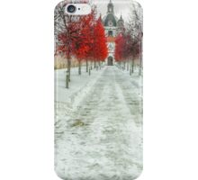 The road to the old monastery in winter iPhone Case/Skin