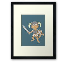 Littlest Khajiit Warrior Framed Print