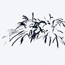 Fireworks Sumi-e by marybedy