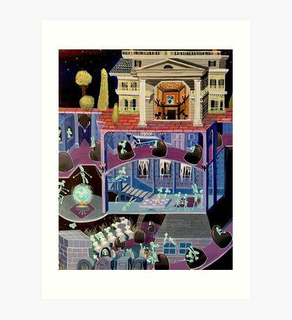 Haunted mansion inspired  Art Print