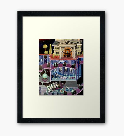 Haunted mansion inspired  Framed Print