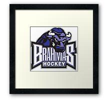 Brahmas hockey logo Framed Print