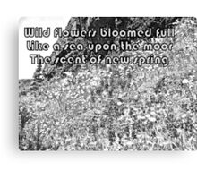 Color Your Own Wildflowers Haiku Canvas Print