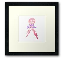 Care for a Cure Framed Print