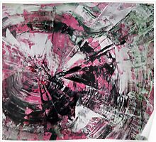 Time, Original mixed media painting, Huge monochrome Abstract Poster