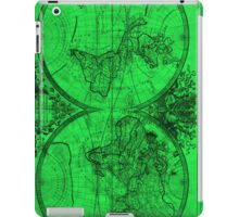 World Map (1691) Green & Black  iPad Case/Skin