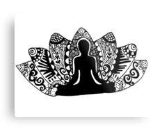 Yoga Lotus Flower Metal Print