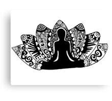Yoga Lotus Flower Canvas Print