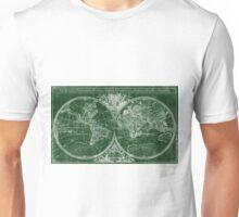 World Map (1691) Green & White Unisex T-Shirt