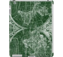 World Map (1691) Green & White iPad Case/Skin