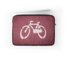 Bike sign painted on the road Laptop Sleeve
