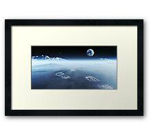 Footprints on alien planet Framed Print