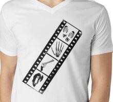 Film-Criminal-Lips-Gun-Hand-Footprints  Mens V-Neck T-Shirt