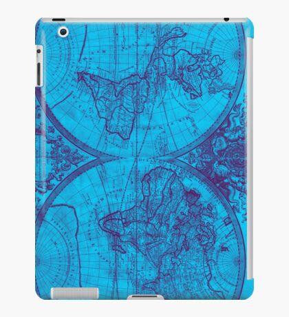 World Map (1691) Blue & Purple iPad Case/Skin