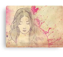 Ink Girl Canvas Print