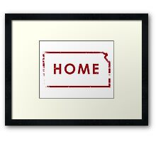 Kansas Home - Red Framed Print