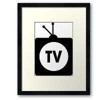 TV Television Framed Print