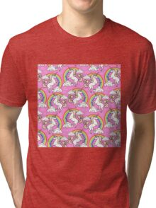 Unicorns pattern Tri-blend T-Shirt