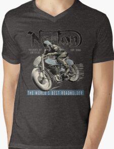NORTON TT VINTAGE ART Mens V-Neck T-Shirt