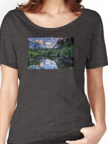 Mirror Lake - Yosemite National Park  Women's Relaxed Fit T-Shirt