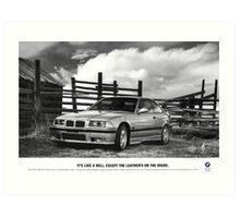 E36 M3 advertisement Art Print