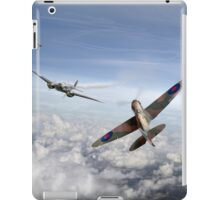 Spitfire attacking Heinkel bomber iPad Case/Skin