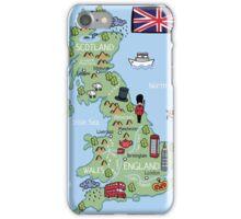 Cartoon map United Kingdom iPhone Case/Skin