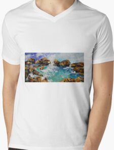 Rockpools Mens V-Neck T-Shirt