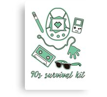 90s survival kit Canvas Print