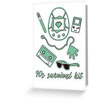 90s survival kit Greeting Card