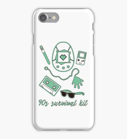 90s survival kit iPhone Case/Skin