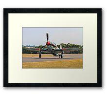 Yakovlev Yak-9UM yellow 06 HB-RYA taxying in Framed Print
