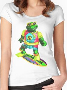 Psychedelic mikey Women's Fitted Scoop T-Shirt
