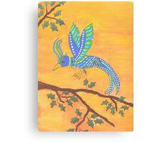 Dotty Bird Canvas Print