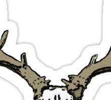 Velvet deer skull Sticker