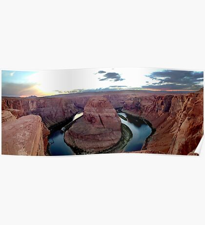 Horseshoe Bend, Arizona - Panorama Poster