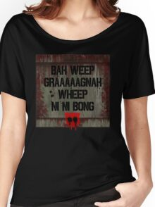 """Transformers - """"Bah Weep!"""" Women's Relaxed Fit T-Shirt"""