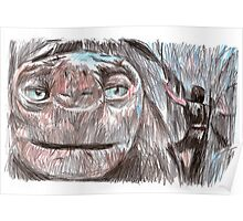 the neverending story film sketch Poster