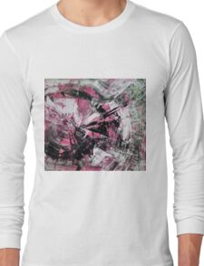 Time, Original mixed media painting, Huge monochrome Abstract Long Sleeve T-Shirt