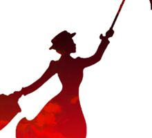 Mary Poppins inspired silhouette Sticker