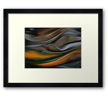Digital painted texture background. Abstract blurred illustration, color, silk, liquid print Framed Print