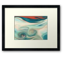Digital painted texture retro pastel background. Abstract beautiful illustration, color, silk, liquid print. Framed Print