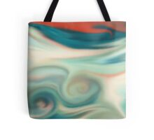 Digital painted texture retro pastel background. Abstract beautiful illustration, color, silk, liquid print. Tote Bag