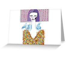 Little miss bluebird Greeting Card