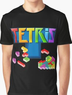 Tetris Themed Merchandise Graphic T-Shirt
