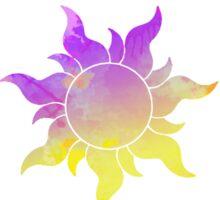 Tangled Sun inspired silhouette Sticker