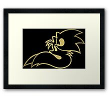 Sonic and tails. Framed Print