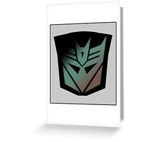 Decepticon Rubsign Greeting Card