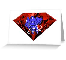 Blood Crystal Suicune Greeting Card