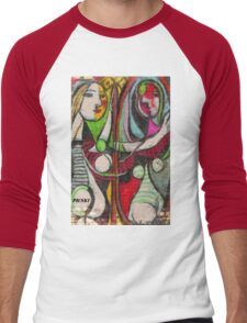 picasso graffiti # 4 Men's Baseball ¾ T-Shirt